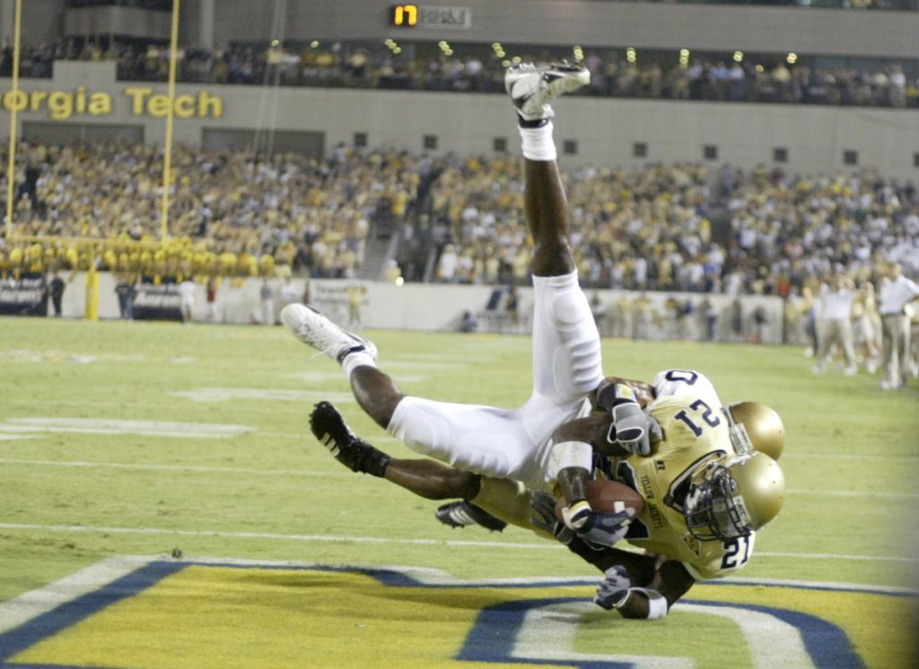 Calvin Johnson, TD vs. Notre Dame, 2006