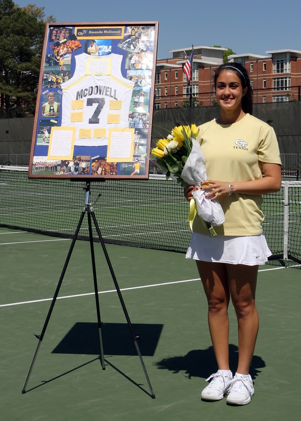 The Georgia Tech Women's Tennis Team honored senior Amanda McDowell on Senior Day