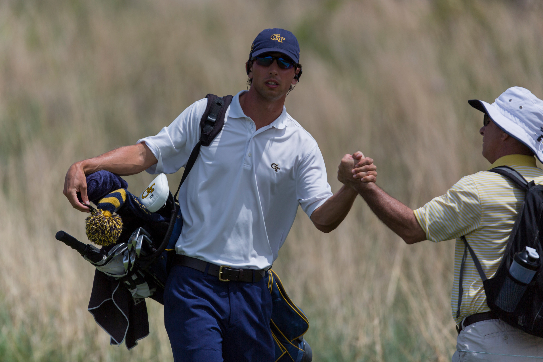 Seth Reeves at the 2014 NCAA Golf Championship, May 23-28, Prairie Dunes Country Club, Hutchinson, Kan.