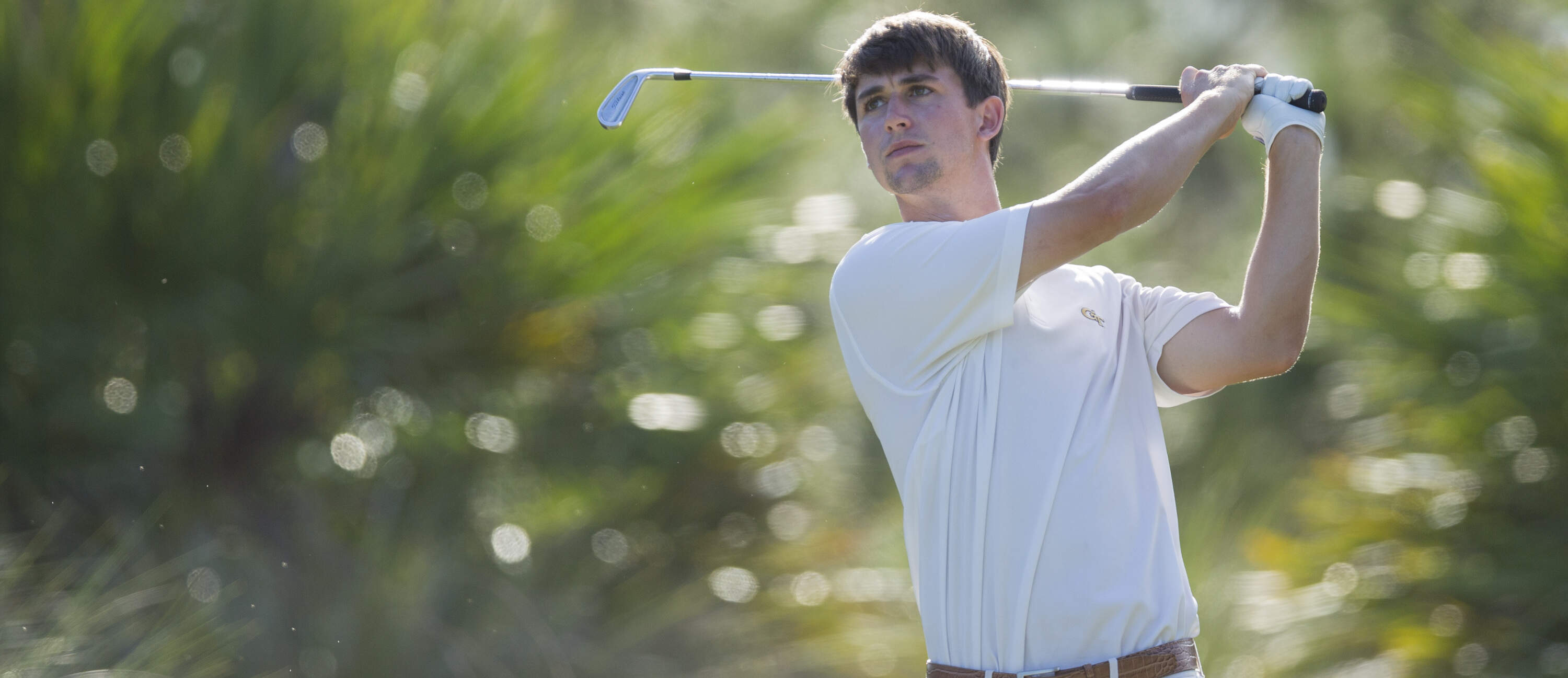 Ollie Schniederjans during the opening round of the NCAA Championship, May 29, 2015, Bradendon, Fla.