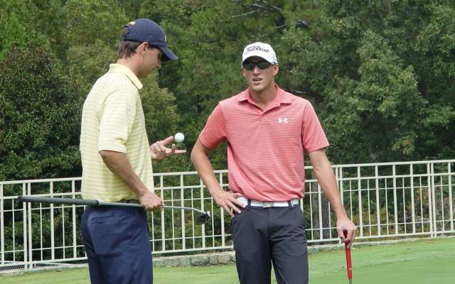 Seth Reeves and Richy Werenski at the Ramblinwreck Cup - Golf Club of Georgia, October 5, 2015