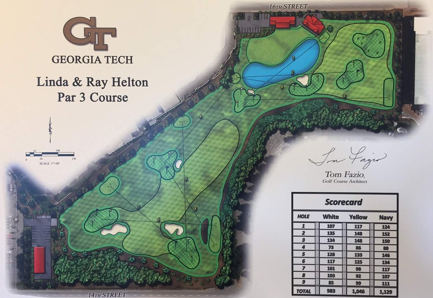 Rendering of the Linda and Ray Helton Par 3 Course at the Noonan Golf Facility