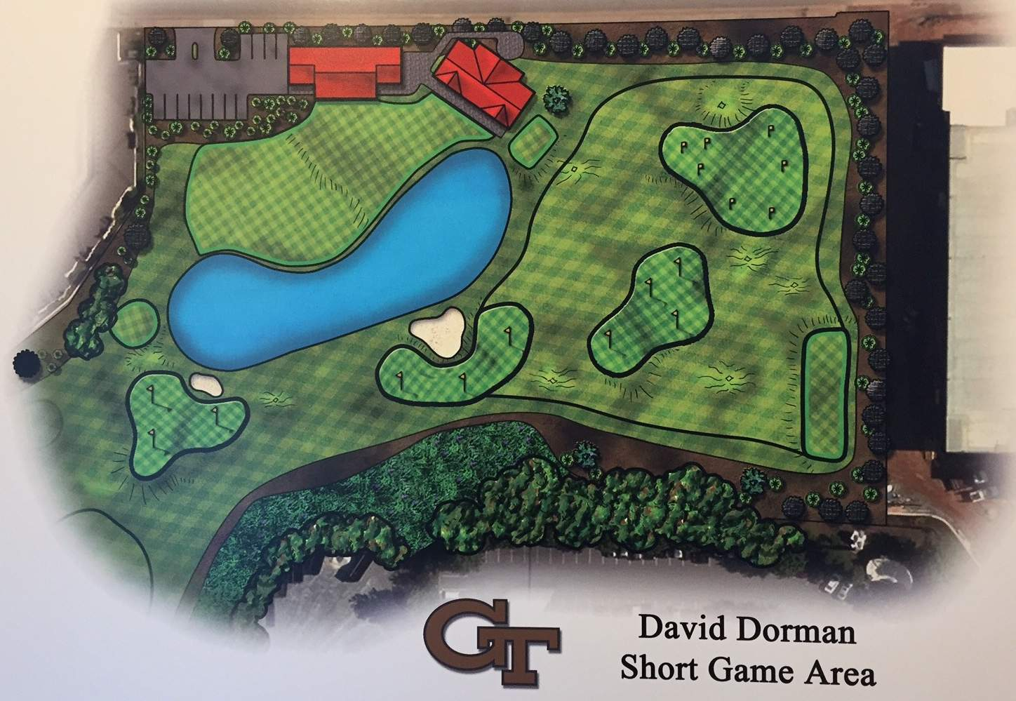 Rendering of the Dave Dorman Short Game Area at the Noonan Golf Facility
