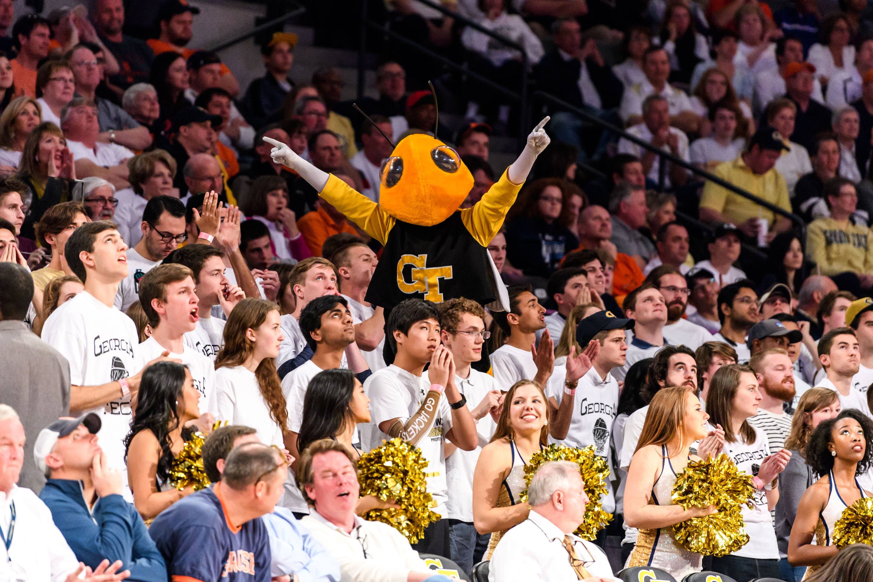 Buzz stands shoulders above the student section