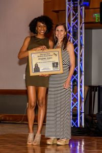 Donjhae Jones accepts Total Person Award at YJC 2017