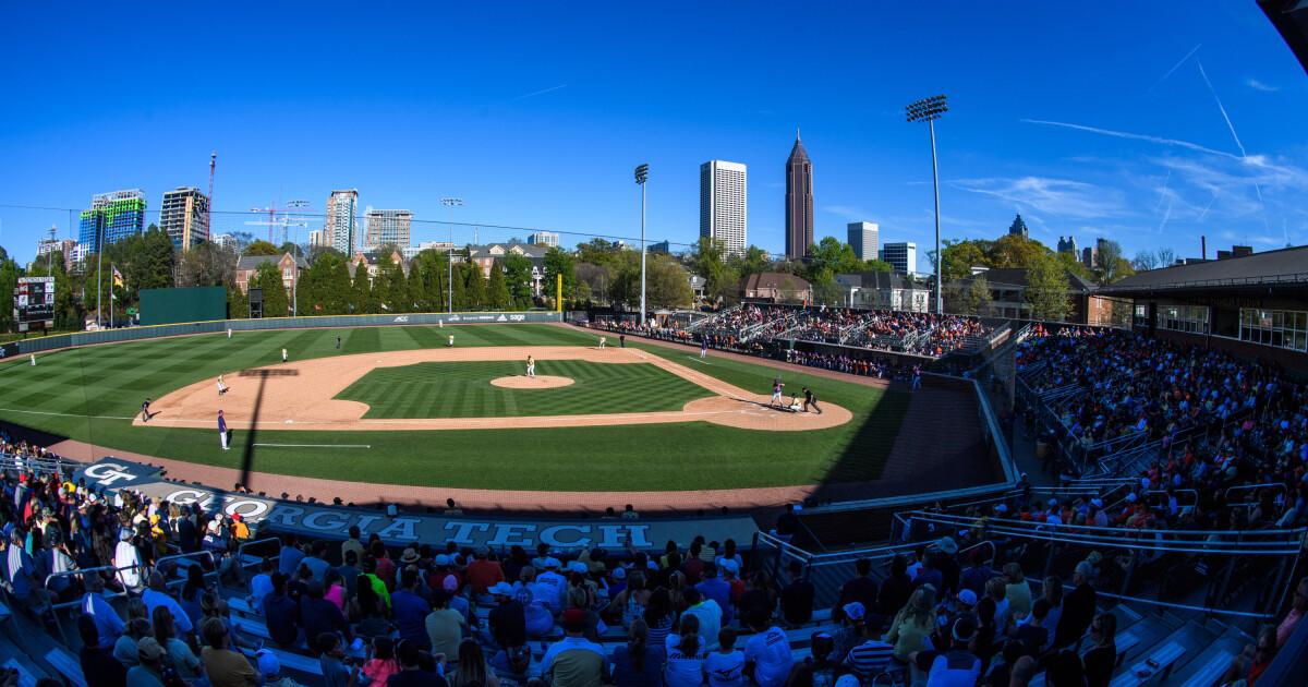 photograph regarding Atlanta Braves Printable Schedule named Baseball Exhibits 2019 Program Baseball Ga Tech