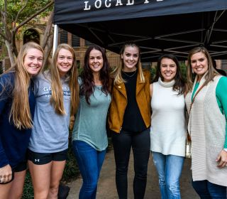 Alumni enjoyed a pregame tailgate before the match