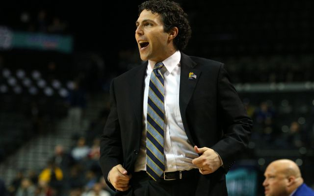 Mar 6, 2018; New York, NY, USA; Georgia Tech Yellow Jackets head coach Josh Pastner coaches against the Boston College Eagles during the first half of a first round game of the 2018 ACC tournament at Barclays Center. Mandatory Credit: Brad Penner-USA TODAY Sports
