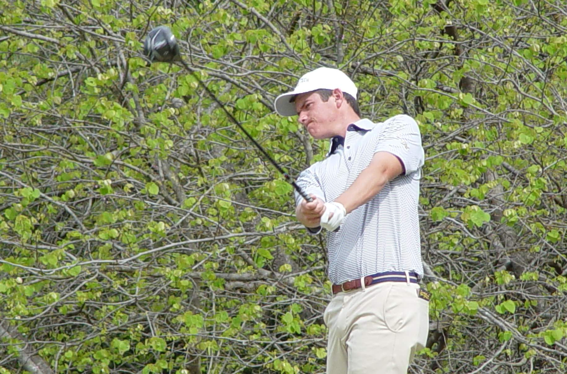 Georgia Tech freshman Noah Norton in the final round of the ACC Men's Golf Championship, April 22, 2018, Old North State Club, New London, N.C.