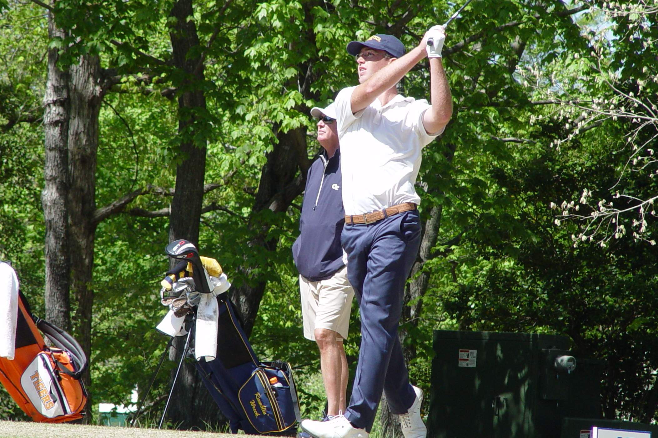Georgia Tech sophomore Andy Ogletree in the second round of the ACC Men's Golf Championship, April 21, 2018, Old North State Club