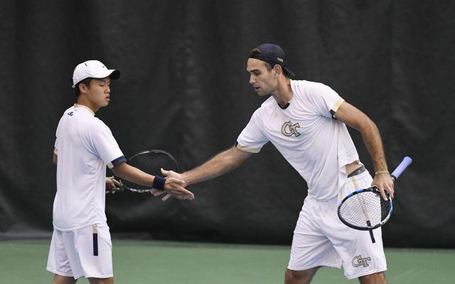 Phillip Gresk,  Andrew Li ACC Tournament 2018 vs. Boston College