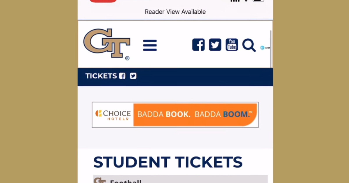 Student Tickets – Georgia Tech Yellow Jackets