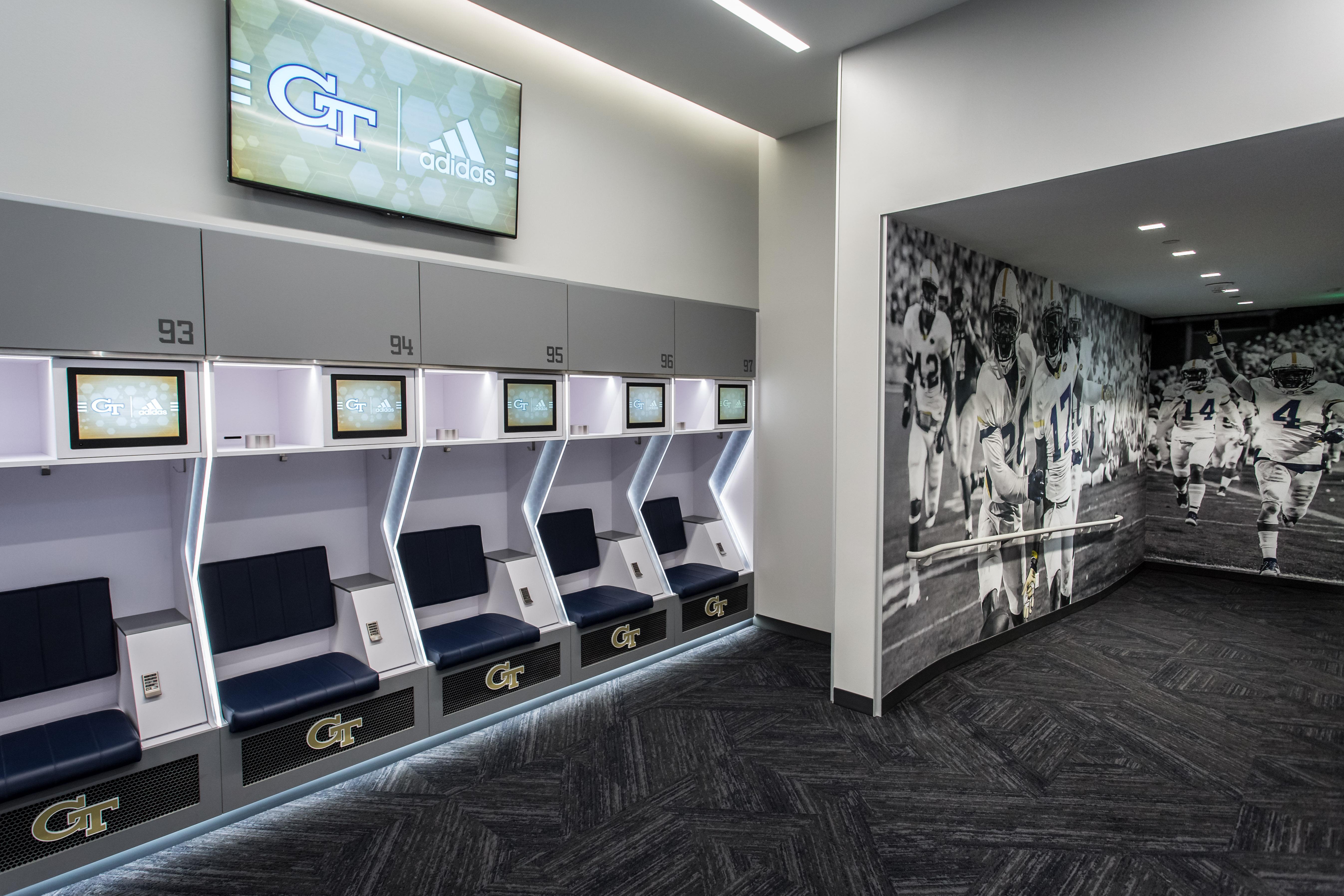 Video Photos Gt Football Locker Room Football Georgia