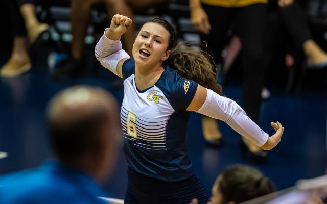 Photos: Georgia Tech Sweeps Georgetown
