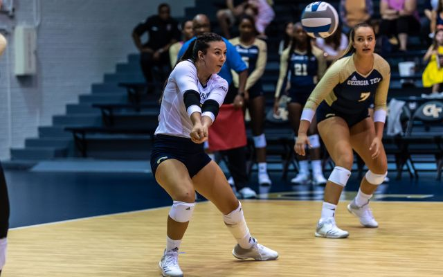 @GTVolleyball Drops Tight Contest To Georgia