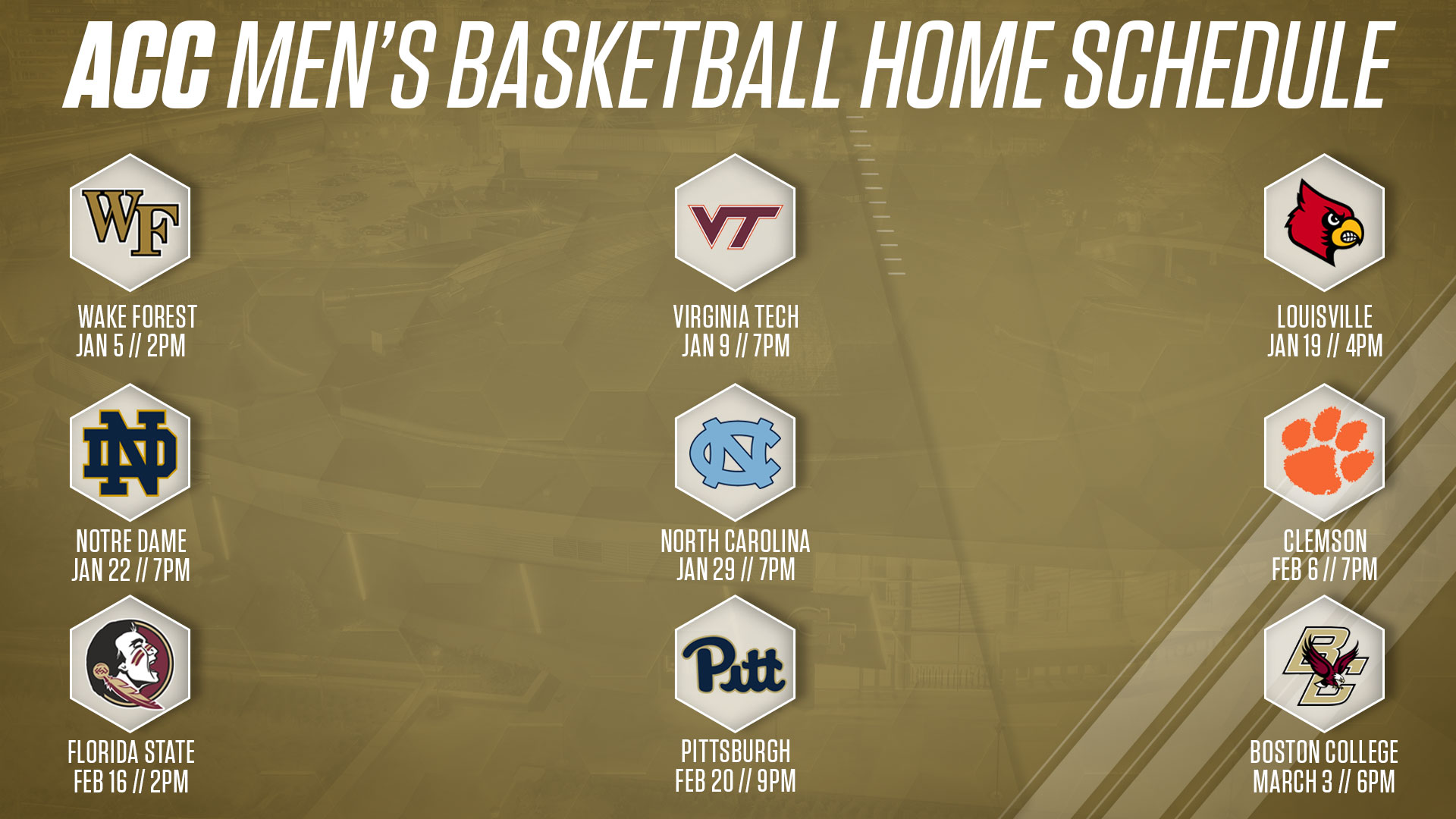 graphic about Syracuse Basketball Schedule Printable known as Ga Techs ACC Basketball Routine Introduced Mens