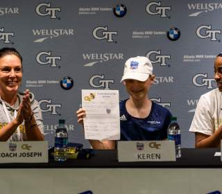 Eleven-Year Old Keren Clay Signs with Women's Basketball