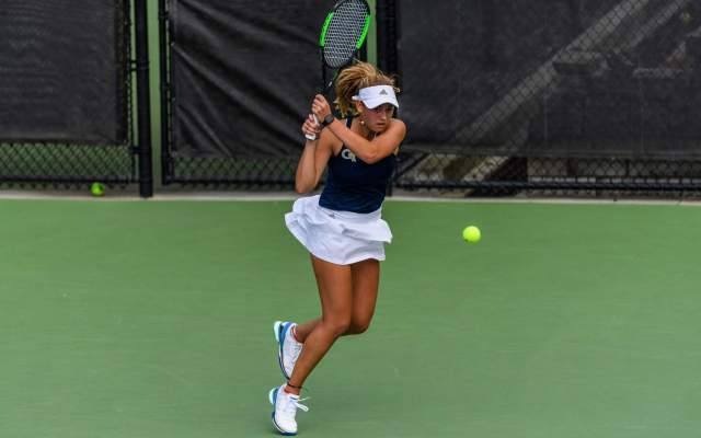 Schenk Lifts Tech Women's Tennis Past Iowa, 5-2