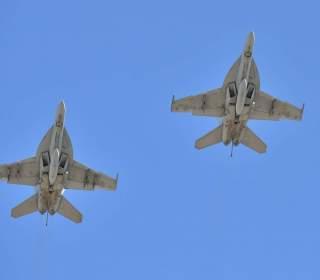 F-18 Super Hornet Flyover