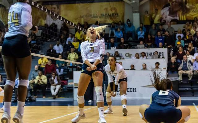 PHOTOS: Volleyball vs. UNC