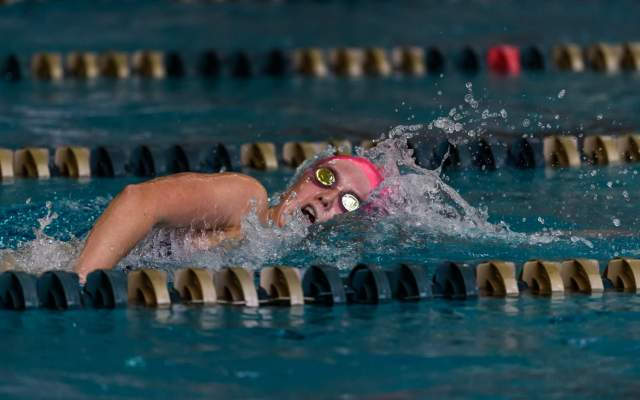 Tech Records Fall On Day One Of Women's Swimming & Diving Championship