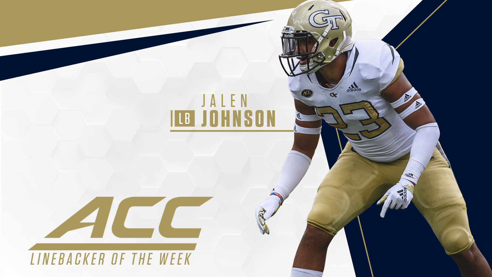 Johnson Named ACC LB of the Week – Football — Georgia Tech