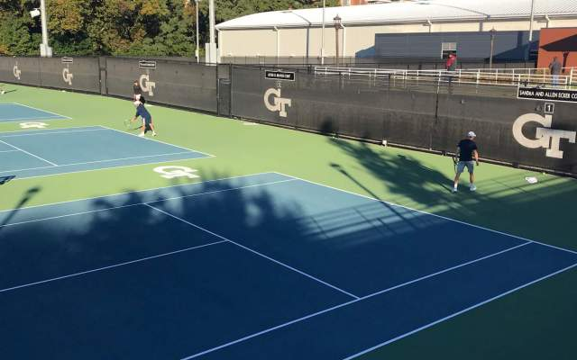 Men's Tennis Wraps Up Day One at All-Americans