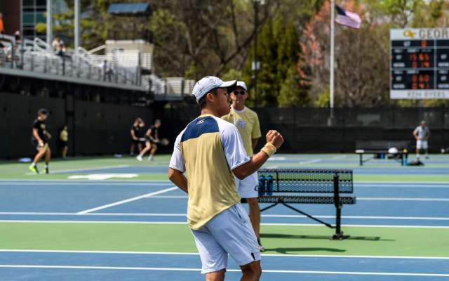 King, Spir Take on Bulldog Opponents in NCAA Singles