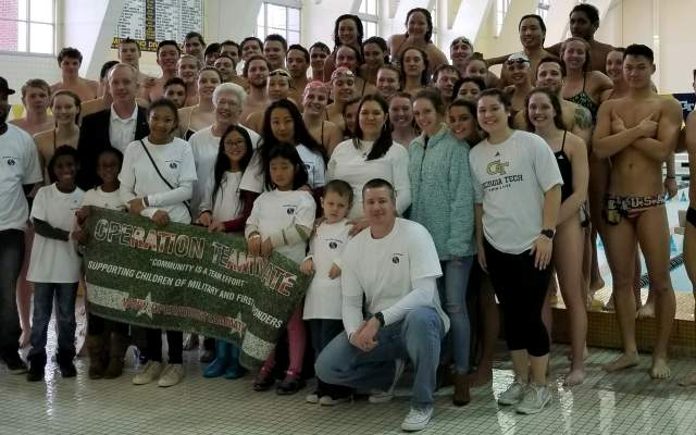 Swim-Dive Hosts Operation Teammate, Military Families