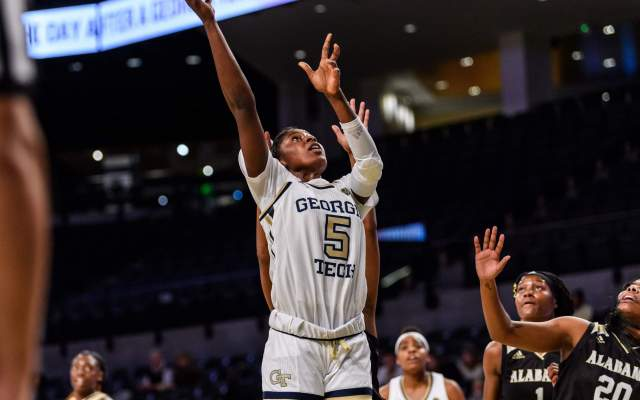 @GTWBB Falls to No. 7 Louisville, 60-50, in ACC Quarterfinal