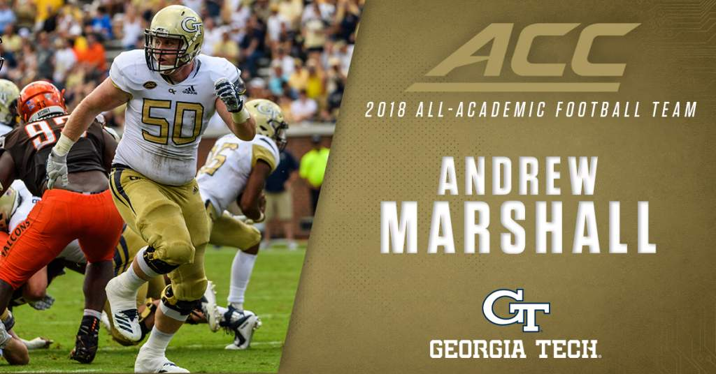 Record Representation For Gt On All Acc Academic Football Team Football Georgia Tech Yellow Jackets