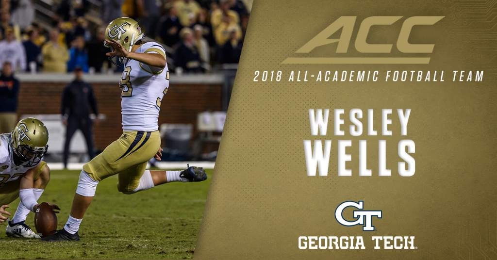 Gt Football Schedule 2019 Record Representation for GT on All ACC Academic Football Team