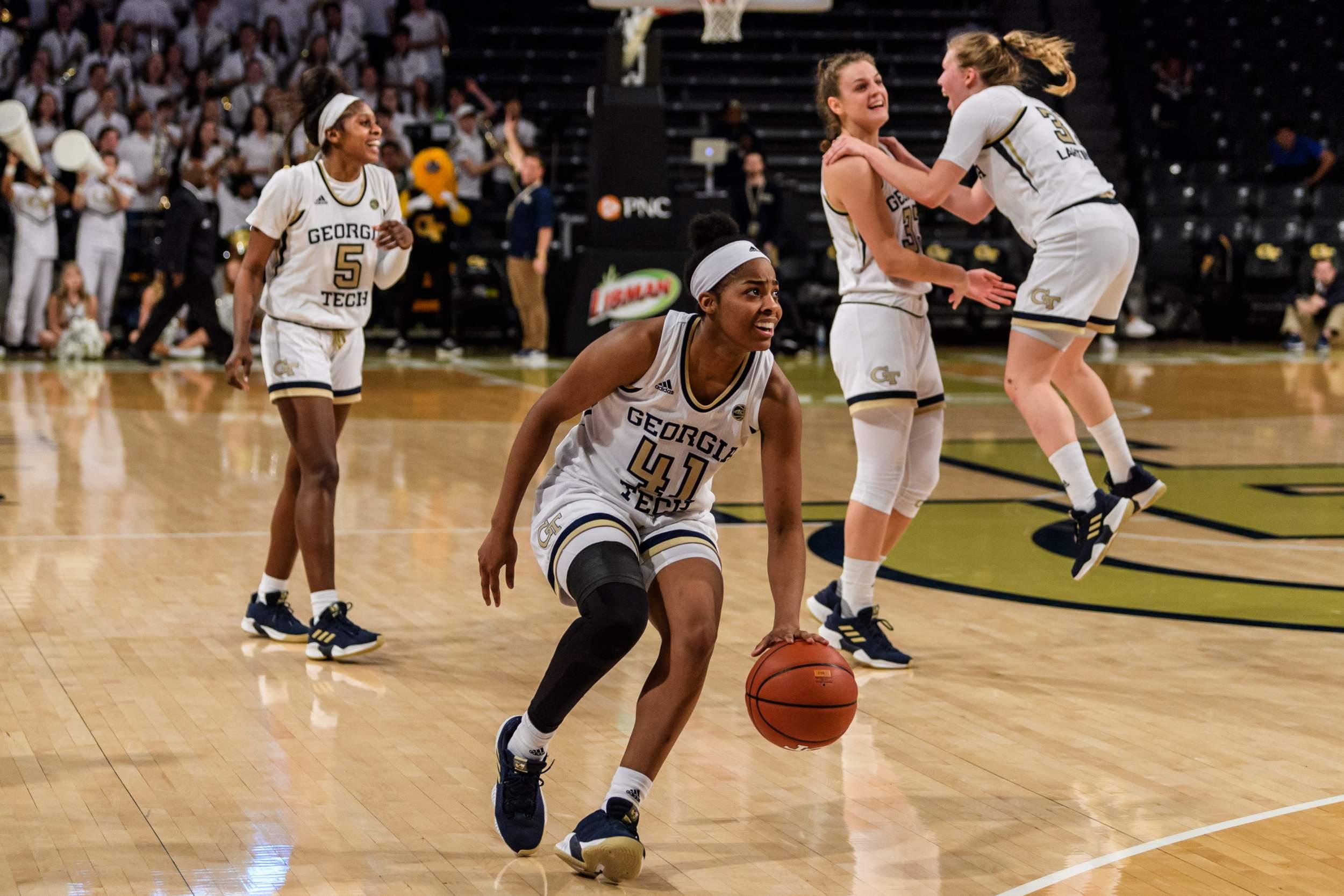 Tech Knocks Off No 12 Syracuse 65 55 Women S Basketball
