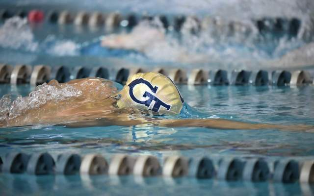 Tech Freshmen Lead 10 Swimmers to Finals on Day 1