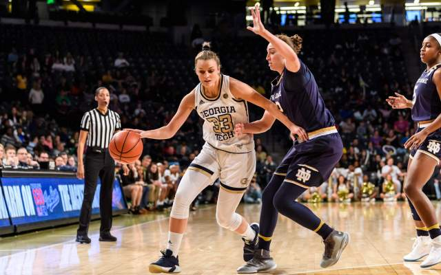 Yellow Jackets Power Past In-State Rival Georgia, 62-54