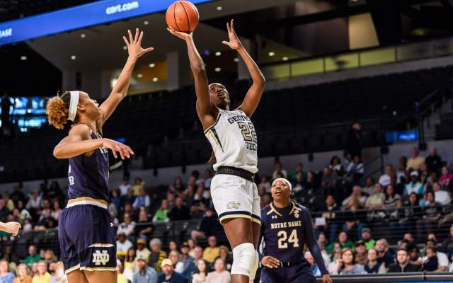 Yellow Jackets Fall to No. 1 Baylor, 83-68