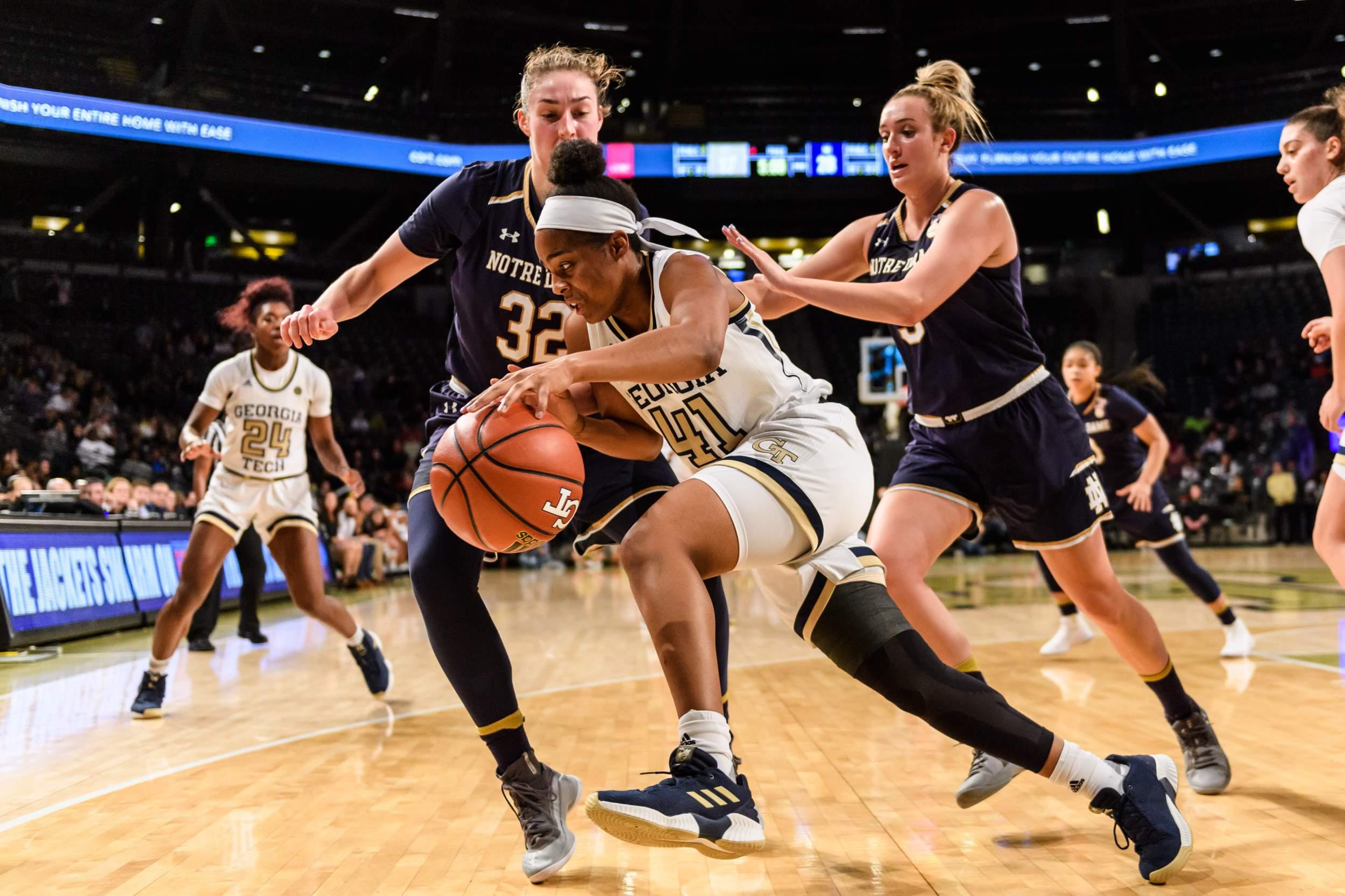 Tech Dame Basketball Photos: Women's Notre Georgia vs. –
