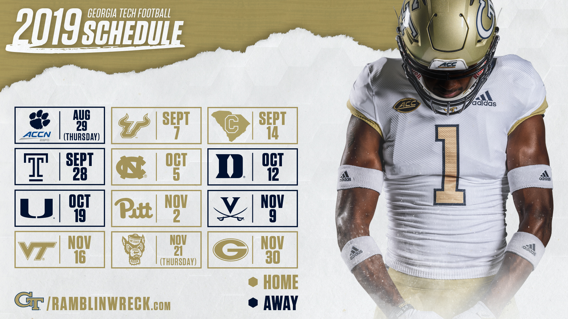 Ga Tech December 2019 Calendar 2019 Football Schedule, Ticket Prices Finalized – Football
