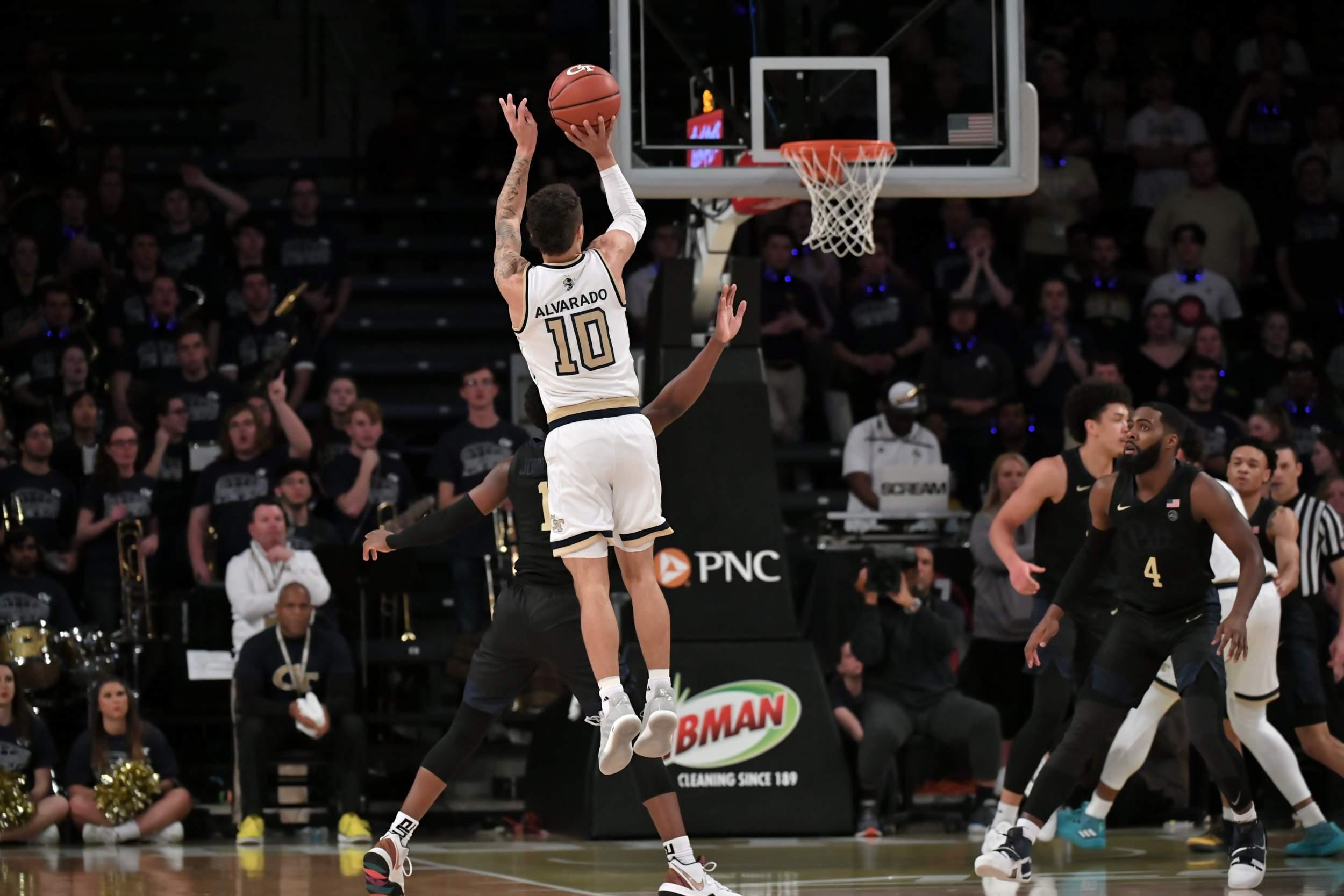 Alvarado Pushes Tech Past Pitt Men S Basketball Georgia Tech