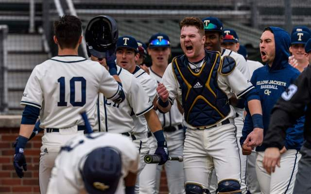 No. 14 Tech Baseball Slams Rutgers, 18-12, in Series Opener