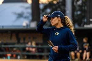 Jennie Finch Stops By Softball Practice