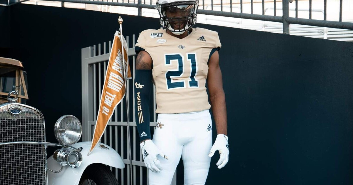 low priced 45f27 29027 Tech to Wear Gold Jerseys vs. The Citadel – Football ...