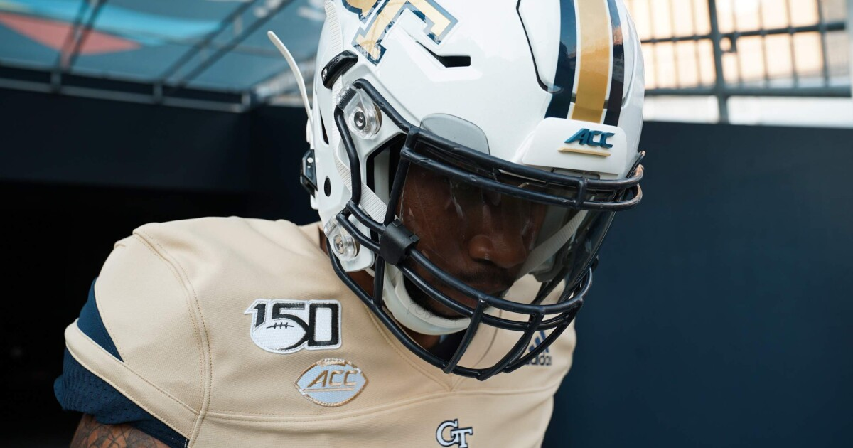 low priced a88e4 f3daf Tech to Wear Gold Jerseys vs. The Citadel – Football ...