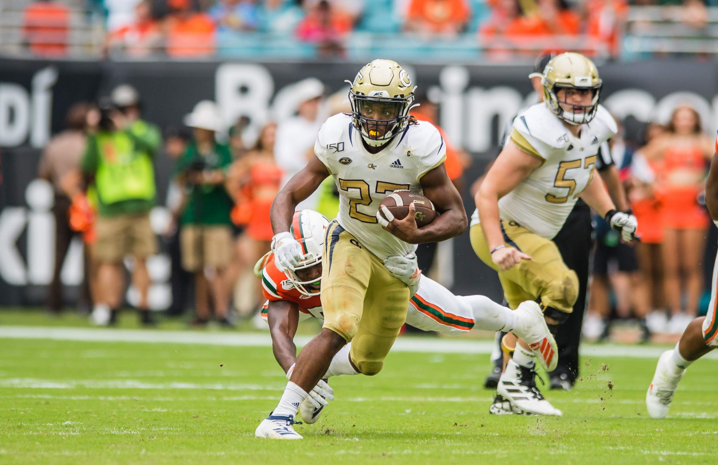 Photo: Jordan Mason (27), Georgia Tech Athletics
