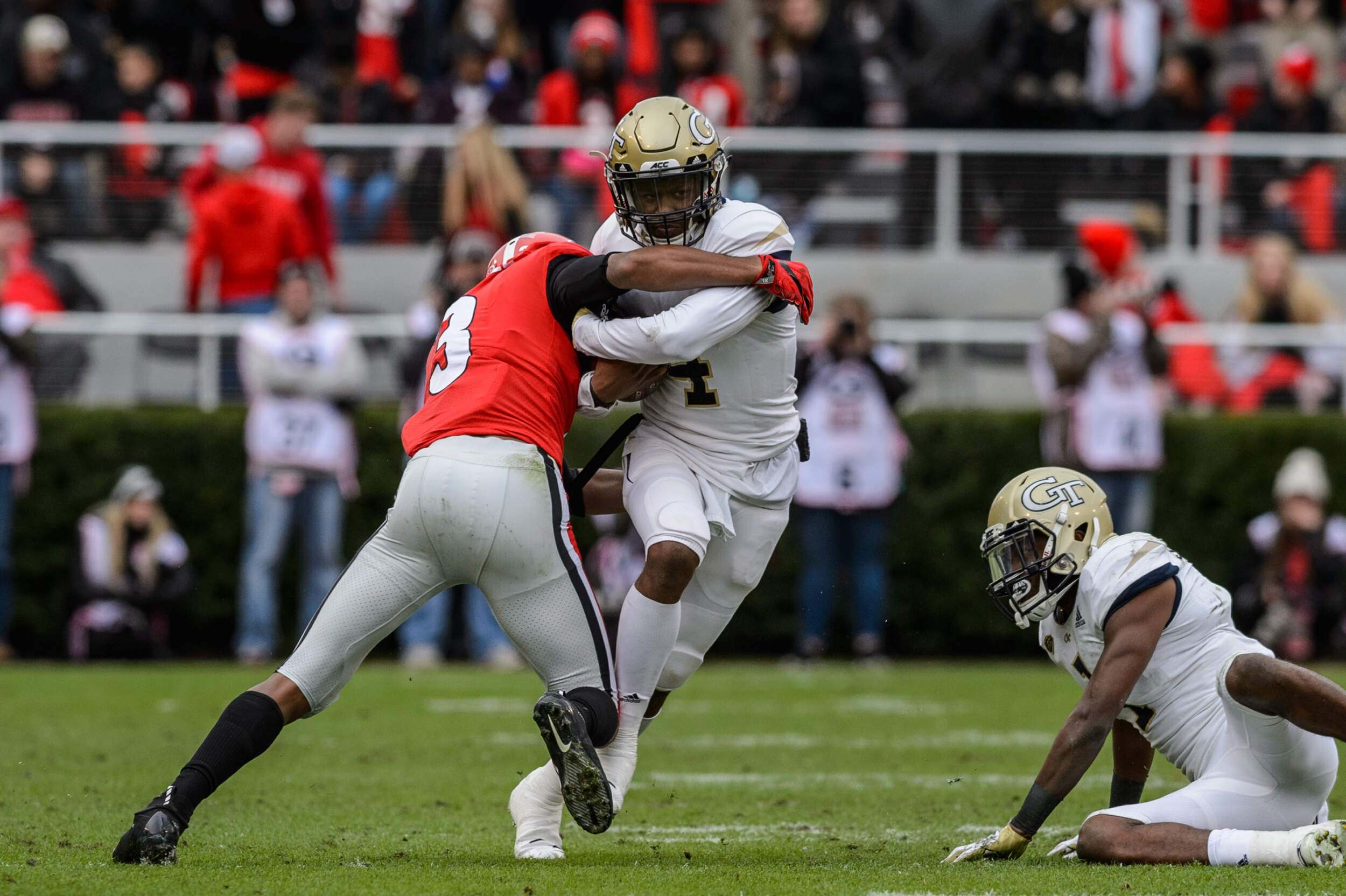 Georgia's George Pickens ejected for fighting vs. Georgia Tech