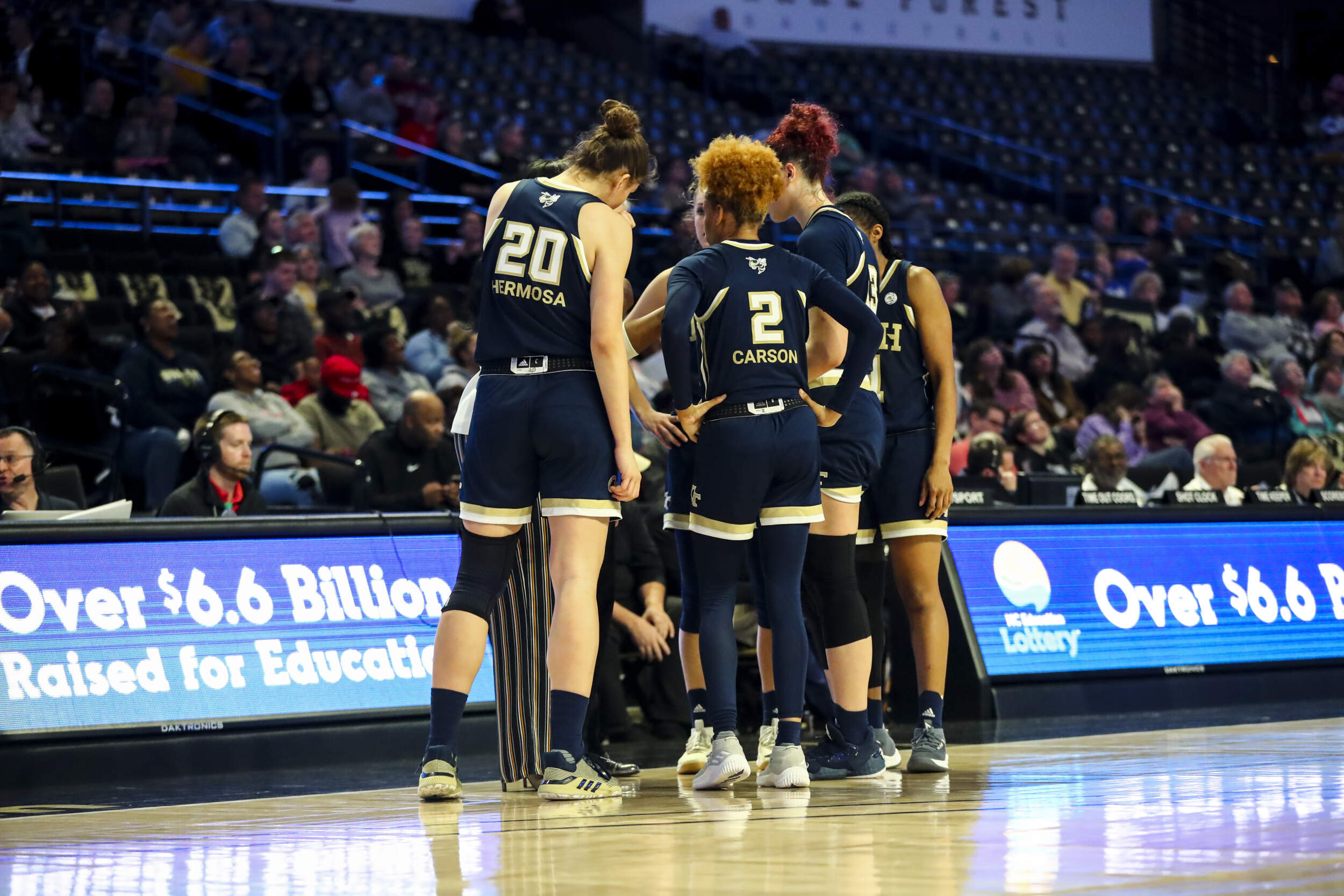 Women's Basketball Huddle