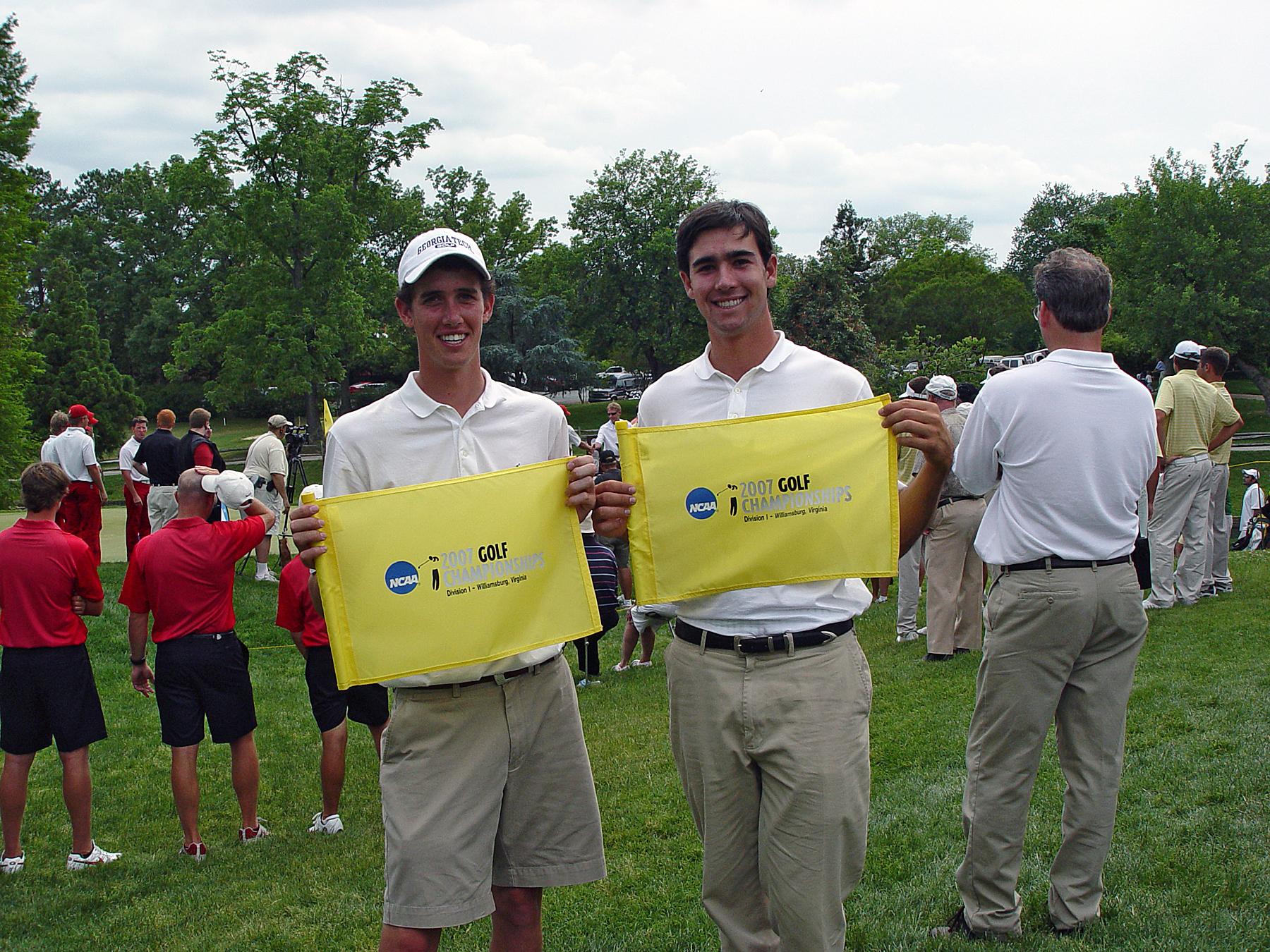Chesson Hadley, Cameron Tringale - Georgia Tech golf