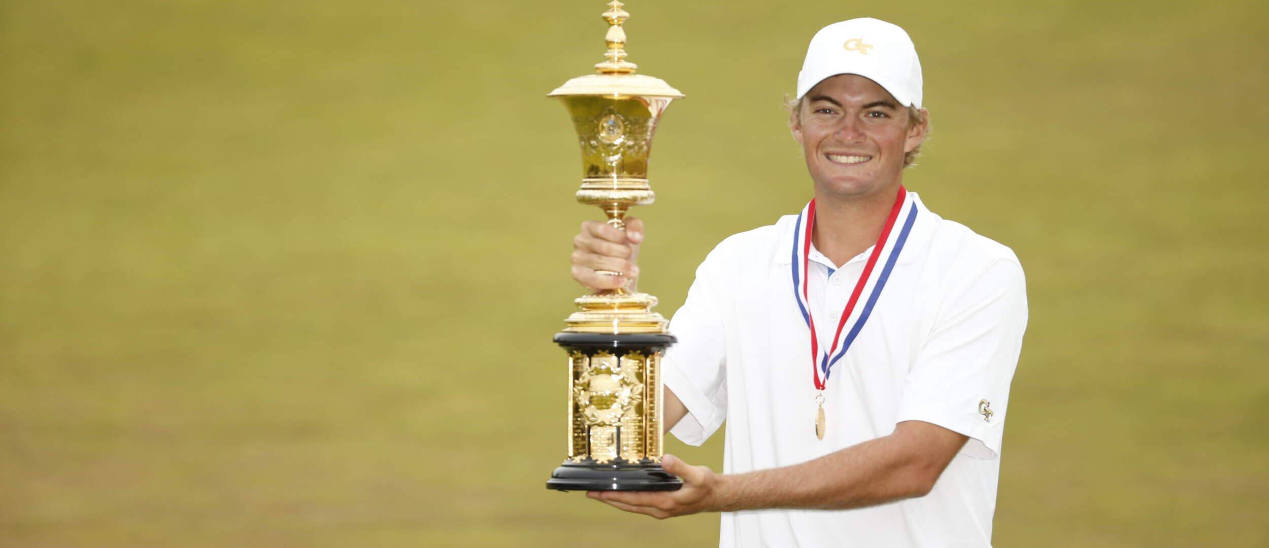 Tyler Strafaci - U.S. Amateur championship trophy, August 16, 2020