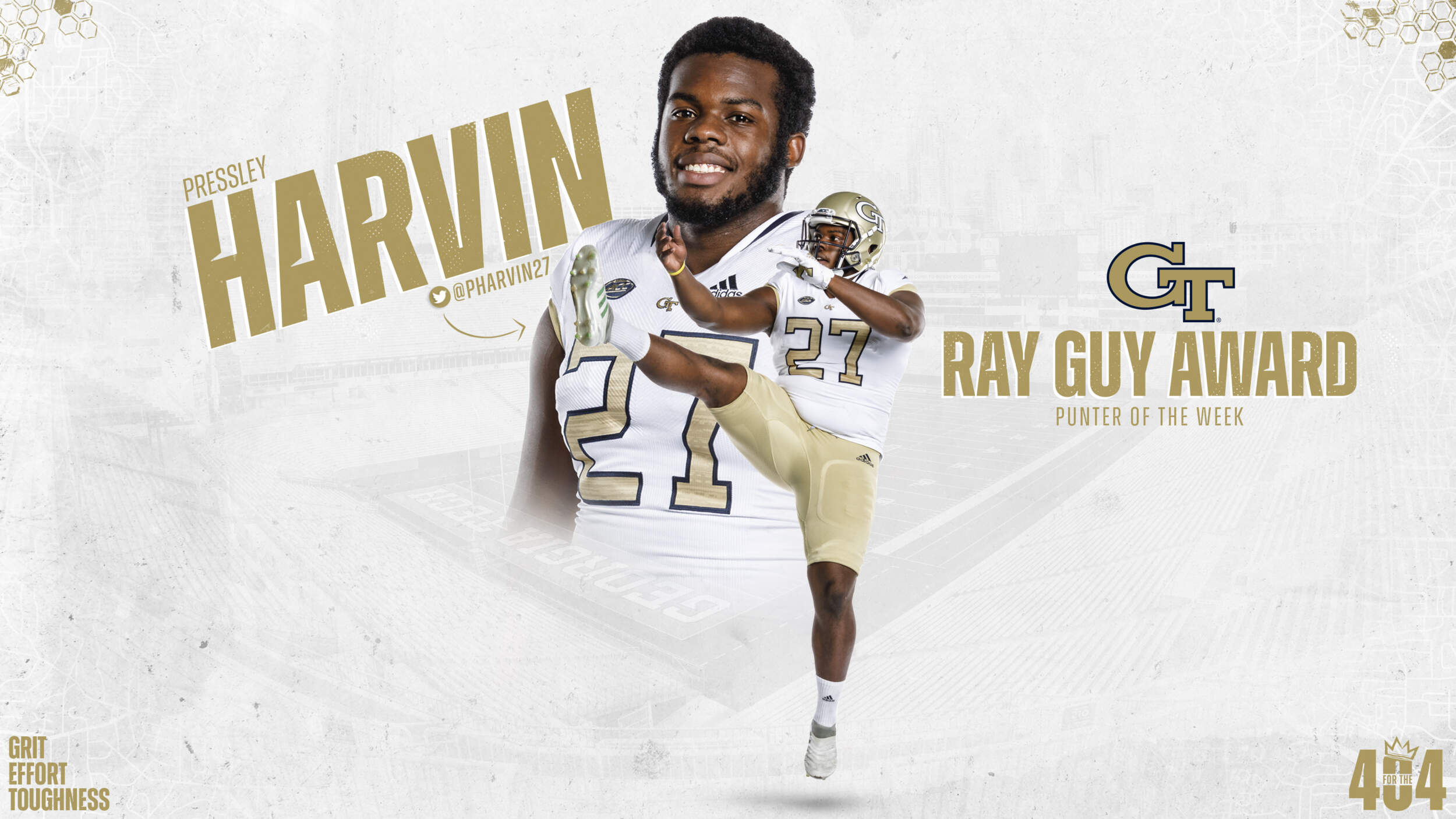 Harvin Named Ray Guy National Punter Of The Week Football Georgia Tech Yellow Jackets