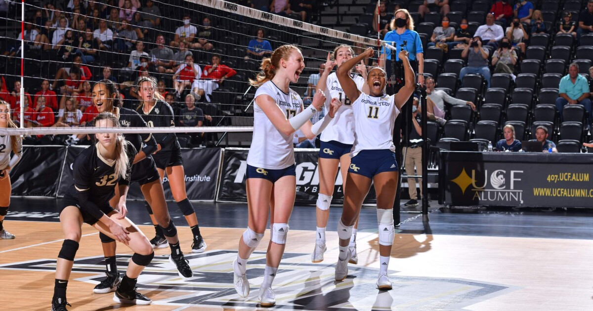 No. 24 Tech Rallies to Overpower UCF for 2-0 Start thumbnail